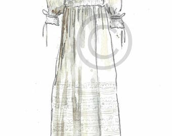 Heirloom Christening GOWN REPRODUCTION PRINT