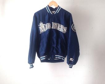 vintage 90s KEN GRIFFEY jr. era size medium Seattle MARINERS starter jacket coat made in the usa
