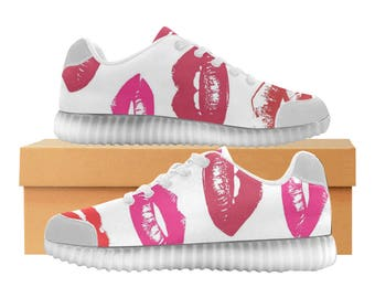 Hot Lips! LED Light Up Shoes | Boys Girls Womens Sizes | High Stretch Upper | EVA + Mesh Fabric Insole | 7 Colors | Bold Street Design