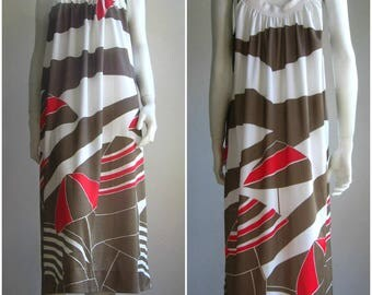 Sun Umbrellas 80s vintage dress