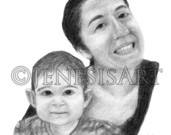 RESERVED FOR KATIE - Custom Portrait
