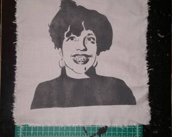Poly Styrene X-Ray Spex punk patch back patches artist portrait street art spray paint feminist patch Oh Bondage Up Yours women in punk
