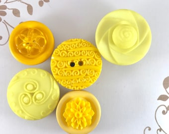 Magnets, Yellow Button, Refrigerator Magnets, Fridge Magnets, Locker Magnets, Filing Cabinet Magnets, for Office, for School, Flower Magnets