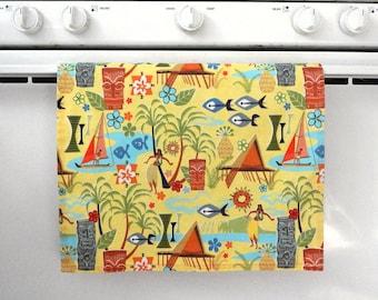 Mid Century Retro Style Hawaiian Tea Towel
