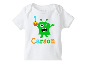 Monster Birthday Tshirt, 1st Birthday Monster Party , Girls or Boys 1st Birthday Monster personalized tshirt , Monster Birthday Party