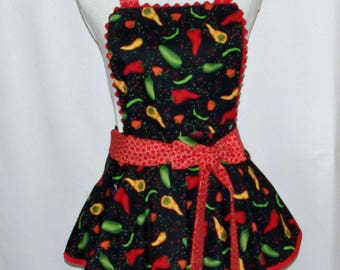 Hot Chili Pepper Petite Apron, Custom Gift, Personalized With Name, Sexy Flirty, Wife, Girlfriend, No Shipping Fee, Ships TODAY, AGFT 1229