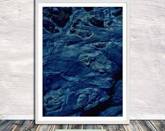 Something blue ... rock poster,Kintsugi, Japanese aesthetics, Wall Art, Word Art, Printable Art, Instant Digital Download