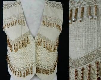 Vintage Hippie Boho Joyace Waistcoat Size S