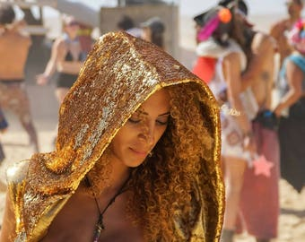 Reversible Sequin Goddess Robe- Multiple Colors- Color Changing Burning Man Festival Costume