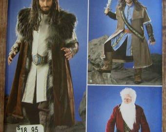 Mens Renaissance Costume: Jacket, Coat, Boots, Cloak, Belt Sizes XS S M L XL Simplicity Pattern 1552 UNCUT