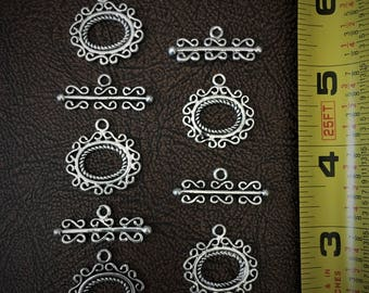 Lot of 5 Sets of Ornate Toggle Clasps
