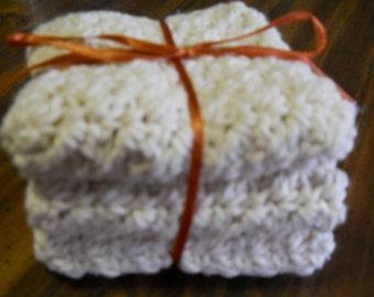 Set of 3 Crochet Cotton dish wash cloth rag