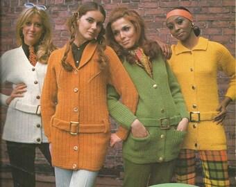 """Vintage Bernat """"Norfolk Jackets""""  Knitting Leaflet"""