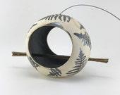 Ceramic Bird Feeder, Pott...