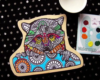 Raccoon Painting Kit  - Paint Your Own Art Kit
