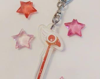 Cardcaptor Sakura Staff Charm