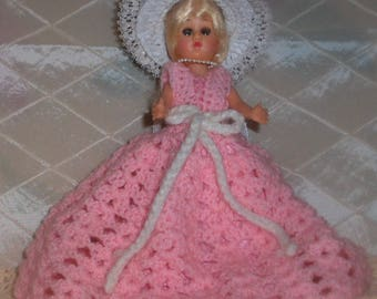 Vintage Doll, Sleepy Eyes, 1950s, Hard Plastic - E5