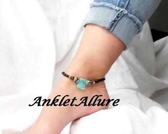 Anklet Black Beach Ankle Bracelet Stone Anklet Cruise Anklet GUARANTEED Anklets for Women