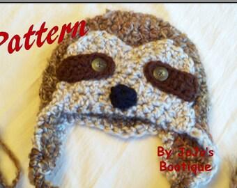 Sloth Hat PATTERN - Baby Sloth Hat PDF Pattern - Crochet Sloth Hat Tutorial - Instant Download Sloth Hat Pattern - Crochet JoJo Sloth Hat