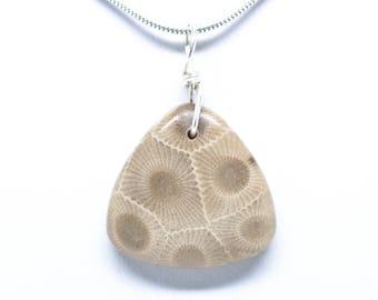Petoskey Stone Triangle Pendant