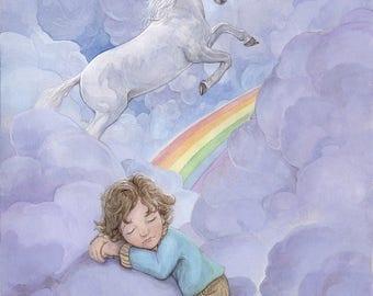 Unicorn Lullaby 8.5x11 signed Print