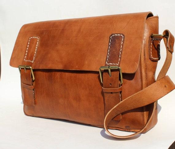 Men's Genuine Leather messenger, briefcase,   laptop bag! Camera bag! Mens shoulder bag! Leather briefcase