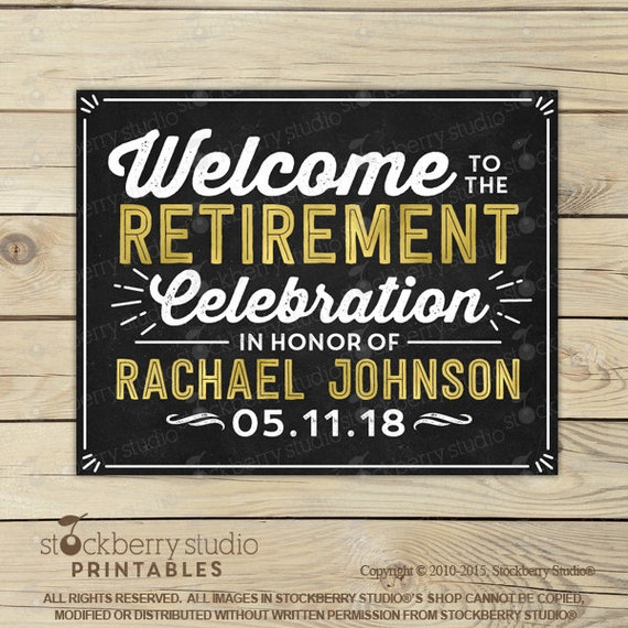 Well known Retirement Sign - Welcome to the Retirement Celebration Sign  WR44