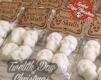 On the twelfth day of Christmas - twelve Bags of Sugar Skulls // DemBones // mini sugar skull // secret santa // skull gifts