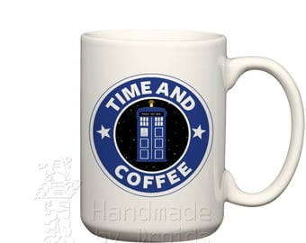 Time and Coffee 15 oz. Coffee Cup