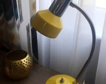 Bright Yellow Gooseneck Mod Desk Lamp