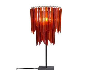 Scarlet Botanica – Double Table Lamp - Glass Table Lamp - Colourful Light - Glass Lighting - Pendant Light - Light Fixture - Decor