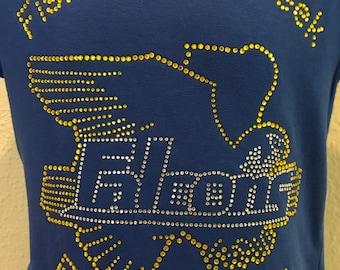 FishHawk Creek Elementary Uniform Girls' and Juniors' Rhinestone/Bling T-Shirt