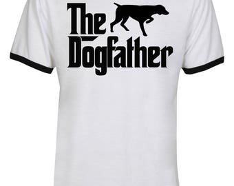 The Dogfather German Shorthaired Shirt - The Dog Father German Shorthaired Shirt - Dog Dad - Men Unisex Ringer Tee T-Shirt - IZRSUB188