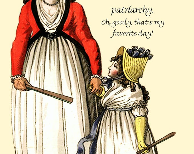 Marie Antoinette Card ~ Today Is The Day We Take Down The Patriarchy ~ Funny Postcard ~ Pretty Girl Postcards ~ Feminist Greeting ~ Women