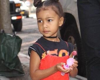 """Sale Kids Black Velvet Choker Necklace. Kids/Toddlers/Children 3/8"""" Black Velvet Choker. Kim Kardashian Daughter Choker 90s Grunge Choker"""