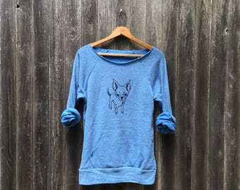 Rescue Me Chihuahua Sweatshirt, Yoga Top, Dog Shirt, Small Dog Shirt, S,M,L,XL