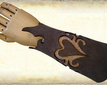 Leather bracer / armguard with cork