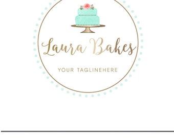 cake logo baking logo premade logo bakery logo design