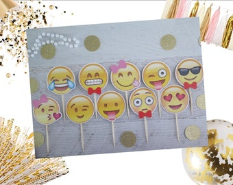 100 Emoji Smiley Faces Clipart images - Photo Booth Props Printables for Tags, Labels, Party Favors