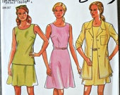 New Look 6468 Misses Shirt, Top, Skirt, and Dress Pattern, Sizes 6 through 16, Factory Folded Uncut, Sewing Pattern