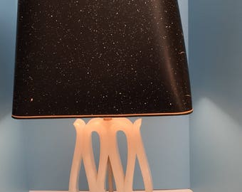 Art Deco Alabaster table lamp with original shade