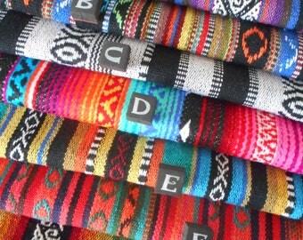 FABRIC SCRAP BUNDLE - Mexican woven stripe fabric off cuts - pure cotton - 250G