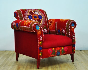 Red Love Armchair