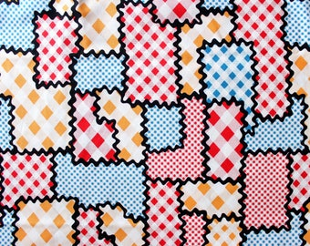 Amy Sedaris I Like You Fabric . Hard to find Collection . Patchwork Puzzle 1960's Style . Retro Inspired Gingham and Polka Dots