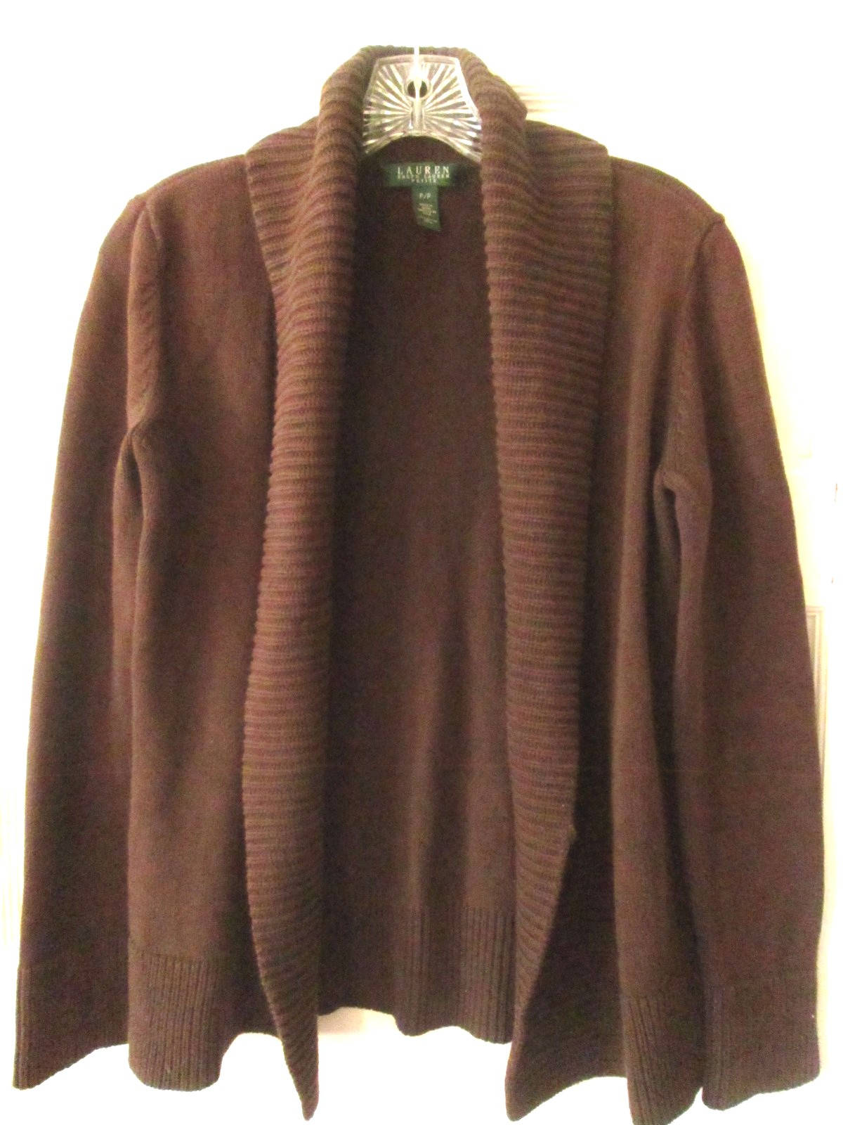 Ralph Lauren Brown Cotton Cardigan Sweater PP