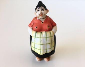 Bisque Aunt Mamie Nodder Doll Willard Moon Mullins Comic Strip Figurine