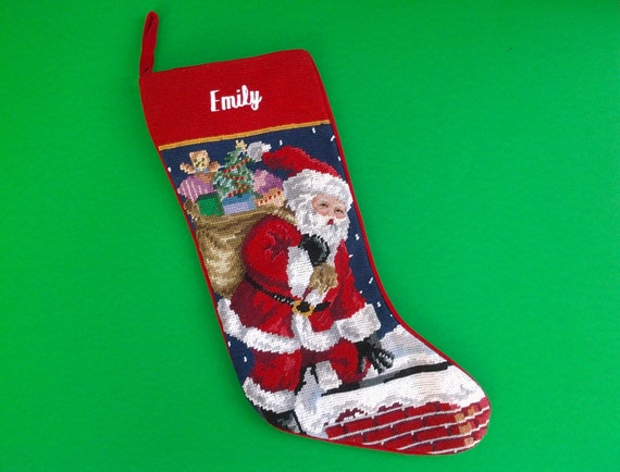 Santa Claus Needlepoint Stockings Page Three