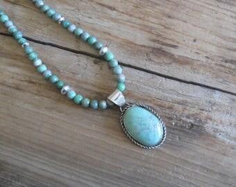 Variscite Pendant, Variscite Necklace, Natural Variscite Pendant, Gemstone Pendant, Gemstone Jewelry, Variscite Jewelry, GemSalad
