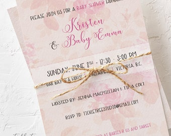 Baby Shower Invitations - Vintage Rose (Style 13455)