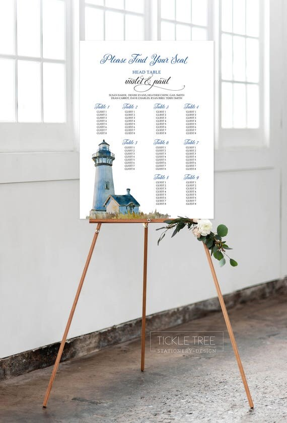 Seating Chart - Sandy Shores (Style 13625)